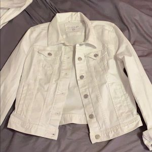NWOT LOFT White Denim Jacket